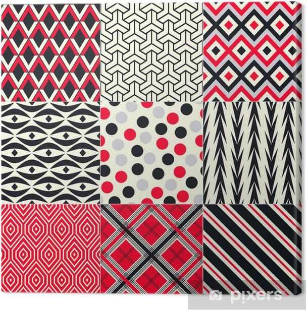 seamless abstract geometric pattern Canvas Print - Backgrounds