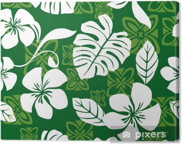 e00c28d44c19 Seamless Aloha Friday Hawaiian Shirt Pattern Canvas Print • Pixers ...