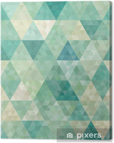 seamless background with abstract geometric ornament Canvas Print - Styles