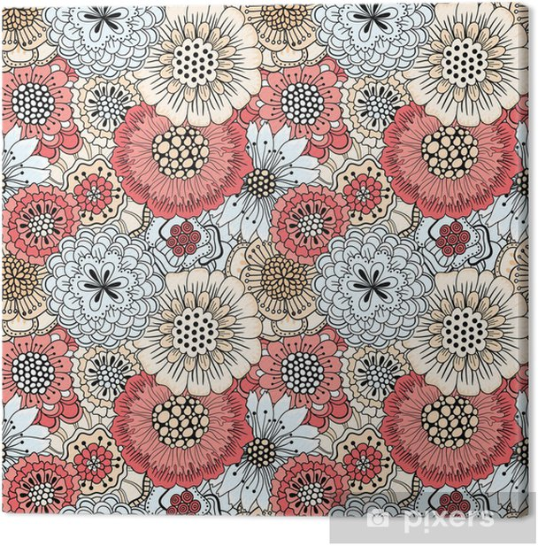 Seamless floral pattern Canvas Print - Backgrounds