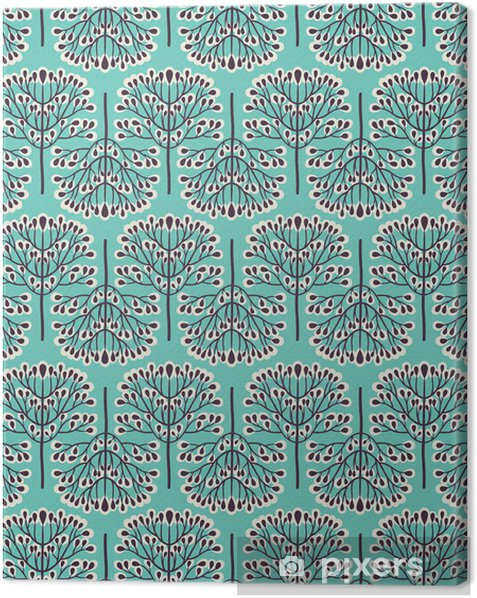 Seamless forest pattern Canvas Print -