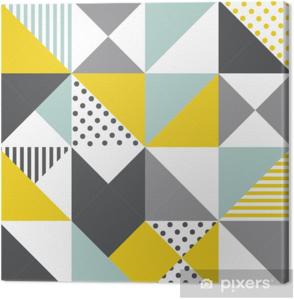 Seamless geometric pattern. Abstract triangle geometrical background Vector illustration. geometric mosaic art abstract with triangle background. Infinity geometric pattern. Canvas Print - Graphic Resources