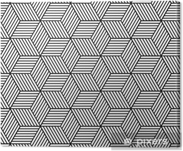 Seamless geometric pattern with cubes Canvas Print - Graphic Resources