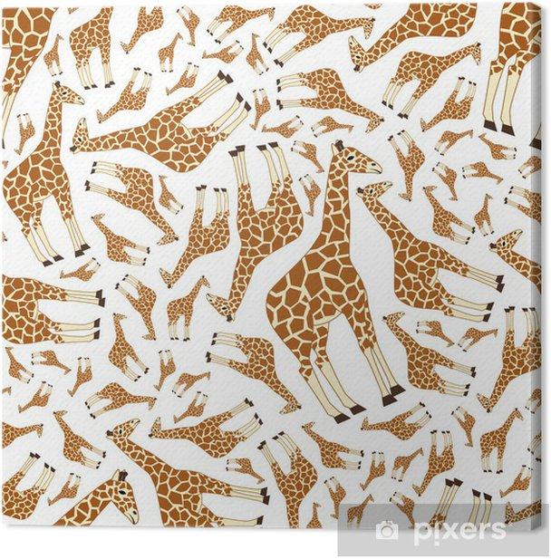 seamless giraffe pattern Canvas Print