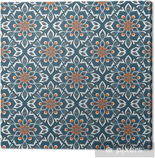 Seamless hand drawn mandala pattern. Canvas Print - Graphic Resources