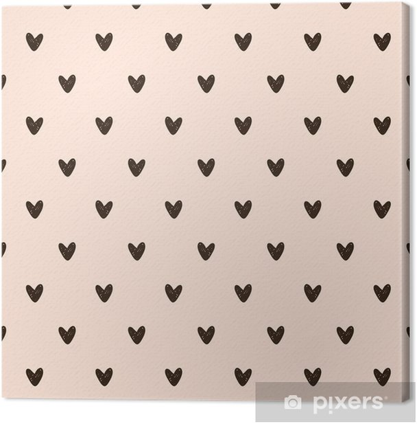 seamless heart pattern Canvas Print - Graphic Resources