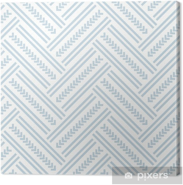 Seamless herringbone pattern. Canvas Print - Graphic Resources