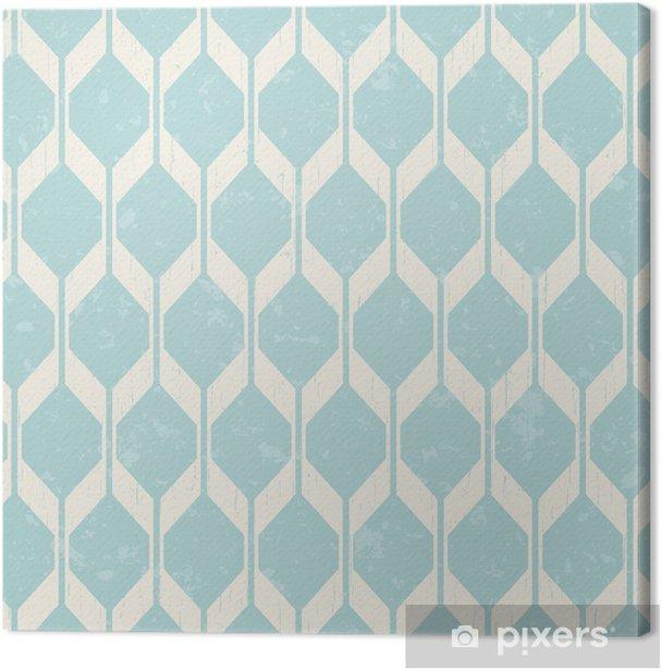seamless interlocking mesh geometric pattern Canvas Print - Styles