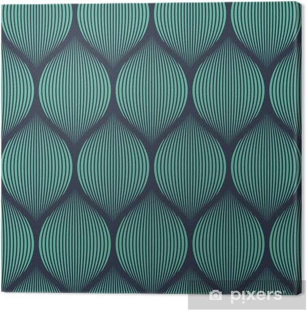 Seamless neon blue optical illusion woven pattern vector Canvas Print -
