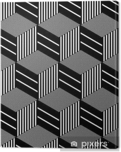 Seamless op art pattern. Canvas Print - Graphic Resources