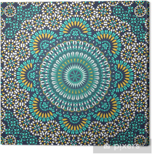 Seamless pattern in mosaic ethnic style. Canvas Print - Mosaic