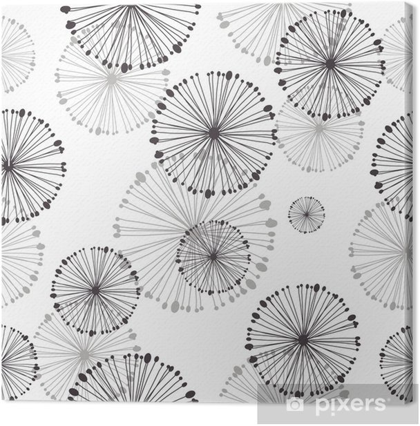 seamless pattern of dandelion Canvas Print - Styles