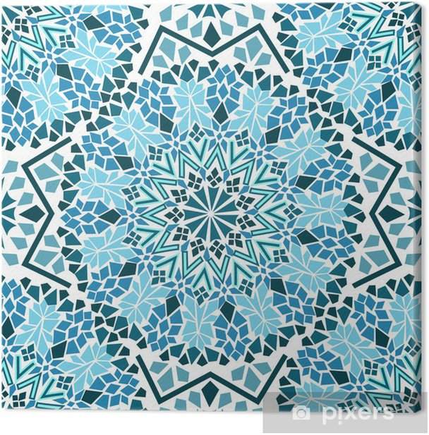 Seamless pattern of Moroccan mosaic Canvas Print - Mosaic