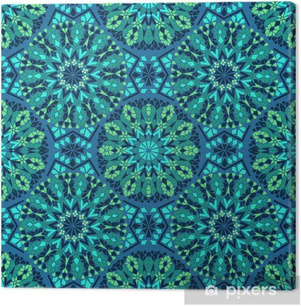 Seamless pattern of mosaic Canvas Print - Mosaic