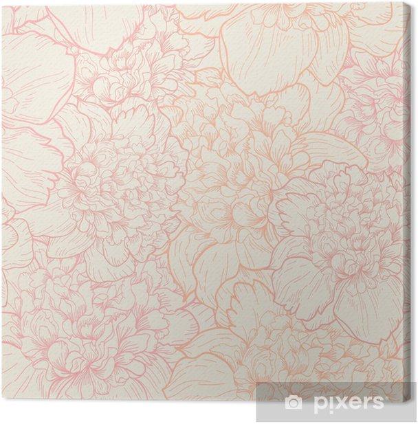 Seamless pattern of peonies Canvas Print - Styles
