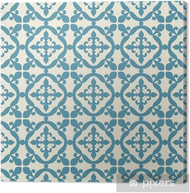 Seamless pattern. Portuguese, Moroccan, Spanish tile. Canvas Print - Graphic Resources