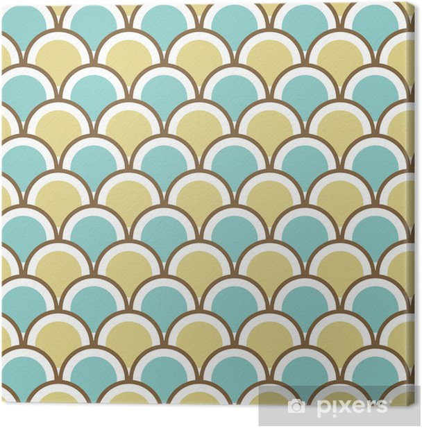 Seamless pattern with circles. Canvas Print - Backgrounds