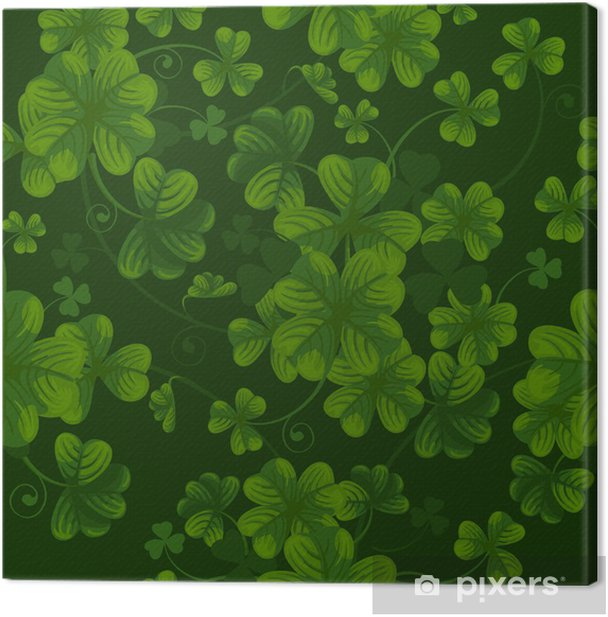 Seamless pattern with clover Canvas Print - Backgrounds