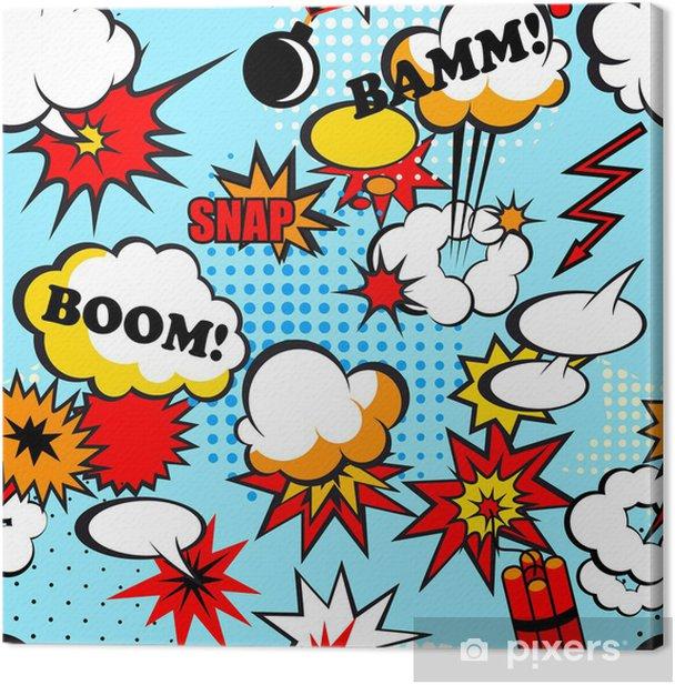 Seamless pop art Canvas Print - Themes