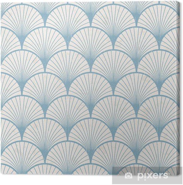 seamless retro japanese pattern texture Canvas Print - Styles