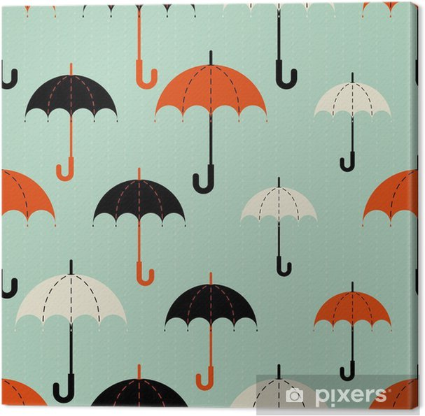 Depicts The Umbrellas Of Diffe Size Umbrella In Three Colors Black Red And Beige Rain On A Blue Background