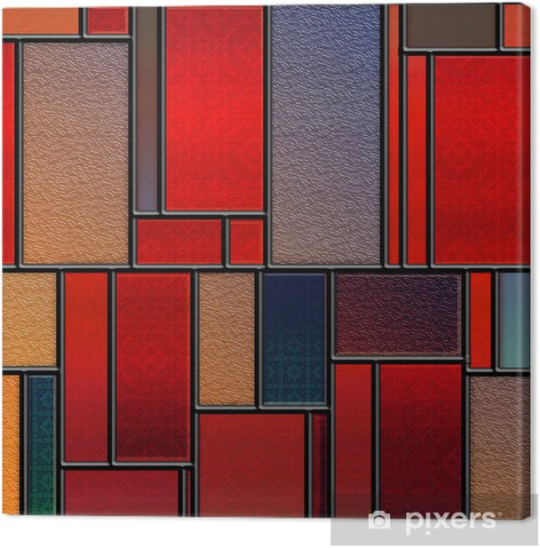 Seamless textured stained glass panel Canvas Print - iStaging