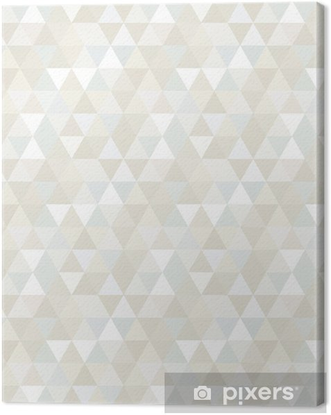 Seamless Triangle Pattern, Background, Texture Canvas Print -