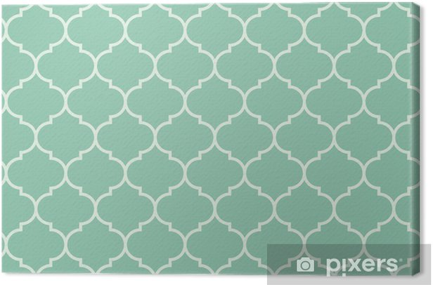 Seamless turquoise wide moroccan pattern vector Canvas Print -