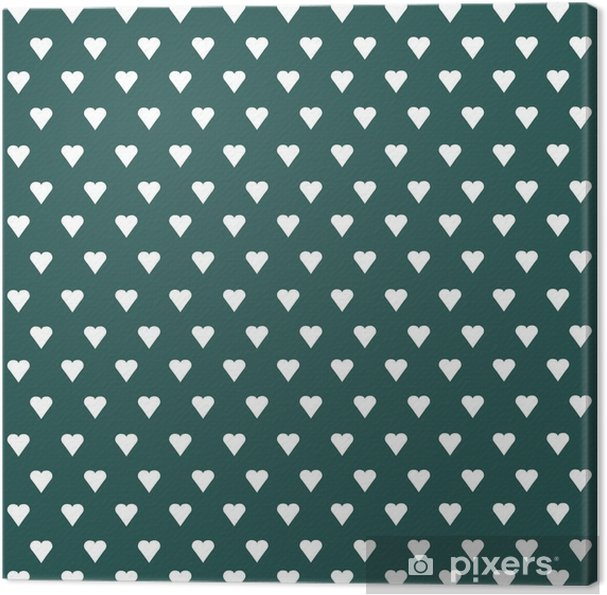 Seamless vector pattern with white hearts on pastel background Canvas Print - Graphic Resources
