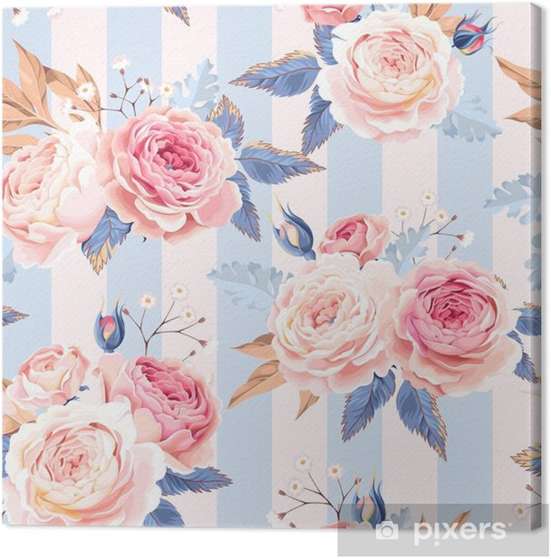 Seamless vintage roses Canvas Print - Plants and Flowers