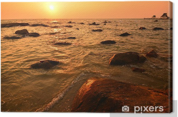 Seascape by Sunset Canvas Print - Water