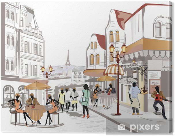 Series of street views in the old city Canvas Print - Themes