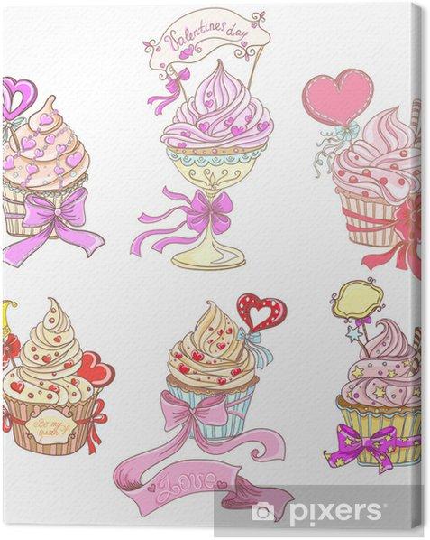 Set Cupcakes Canvas Print - Celebrations