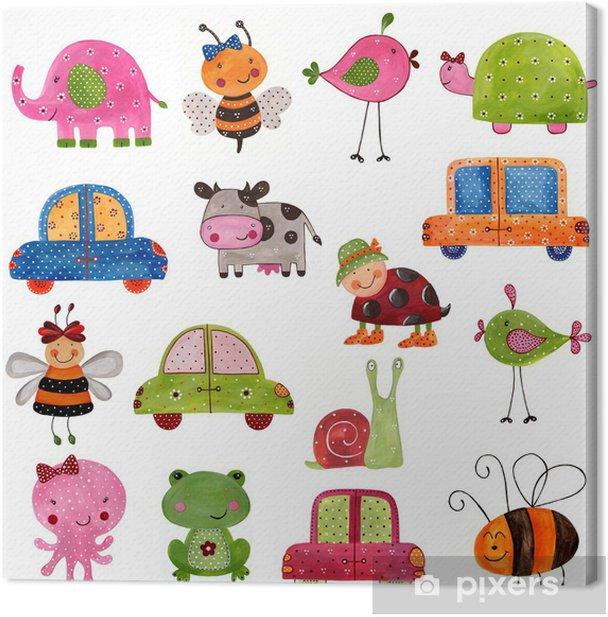 Set of decorative elements Canvas Print -