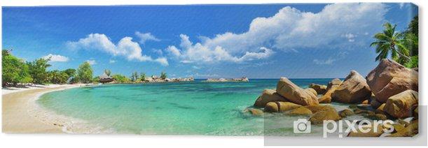 Seychelles , beach panorama Canvas Print - Themes