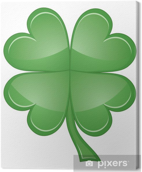 Shamrock or Four Leaf Clover Canvas Print - Other objects