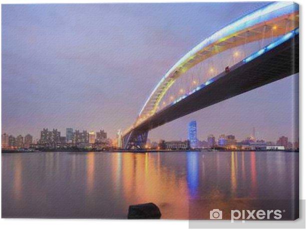 shanghai lupu bridge across the huangpu river Canvas Print - Landscapes
