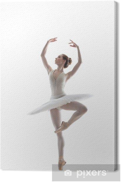 sillhouette of ballerina Canvas Print - Ballet