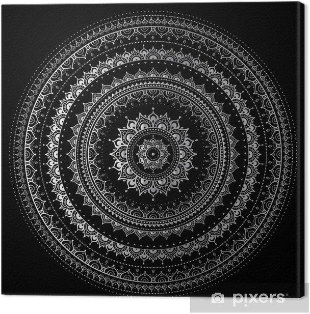 Silver mandala Canvas Print - Styles
