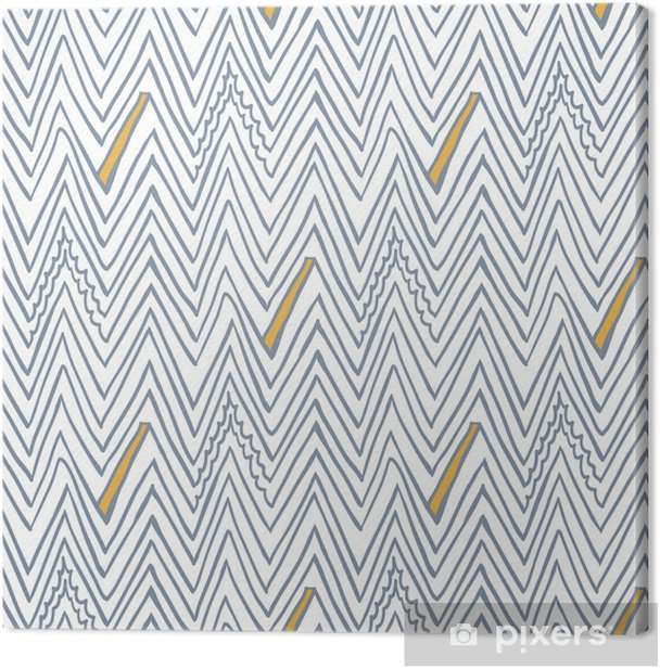Simple seamless vector pattern with zigzag lines Canvas Print - Graphic Resources