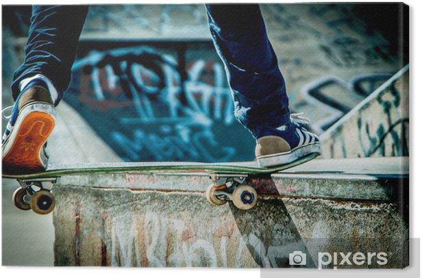 Skateboard Canvas Print - Skateboarding
