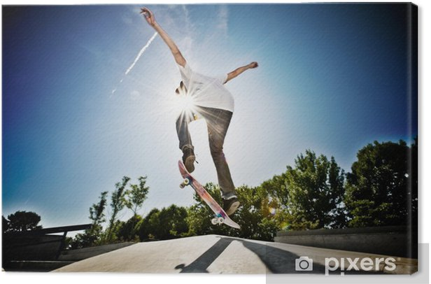 Skateboarder Canvas Print - Skateboarding