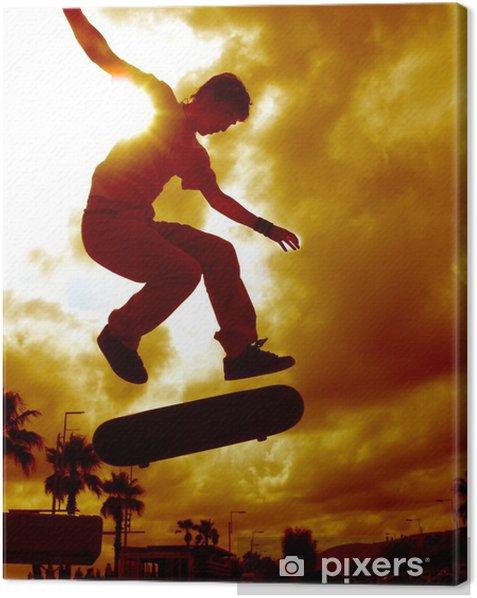 skater espagnole Canvas Print - Skateboarding