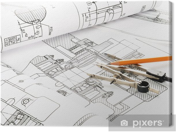 Sketch Canvas Print - Applied and Fundamental Sciences