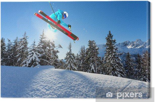 ski - freestyle Canvas Print - Skiing