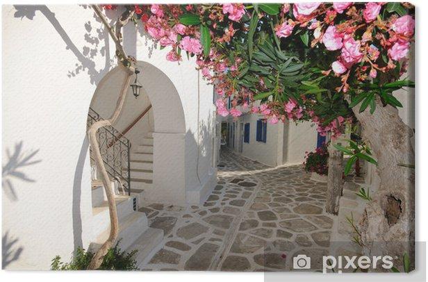 Small backstreet on Amorgos island, Greece Canvas Print - Themes