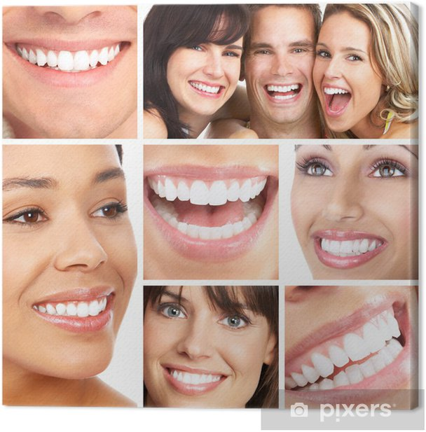 Smiles and teeth Canvas Print - Health and Medicine