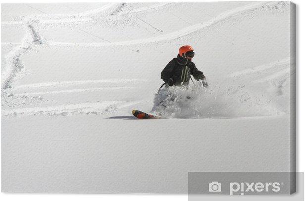 Snowboard freerider Canvas Print - Winter Sports