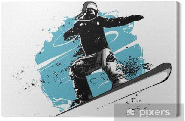 snowboard Canvas Print - Sports