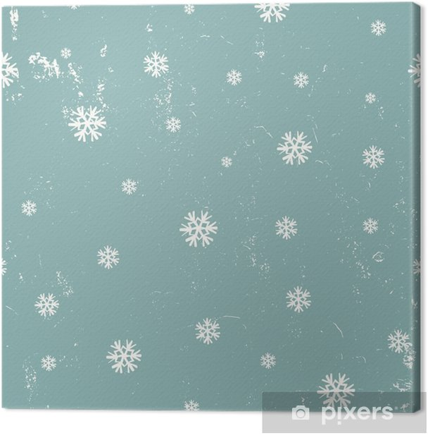 Snowflakes Seamless Pattern Canvas Print - Graphic Resources